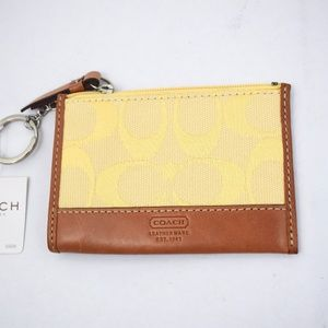 Coach Signature Mini Skinny ID Holder Card Wallet